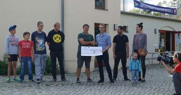 Spendenübergabe an den Club am Trauerberg